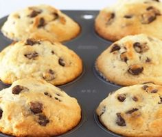 Choc Chip Muffins: A simple favourite that is the perfect lunchbox filler, these muffins are easy to make and guaranteed to please. http://www.bakers-corner.com.auhttps://www.bakers-corner.com.au/recipes/muffins/choc-chip-muffins/