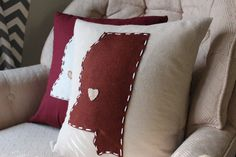 Shop for pillows on Etsy, the place to express your creativity through the buying and selling of handmade and vintage goods. Mississippi Delta, Mississippi State Bulldogs, State Crafts, Ole Miss, Shirt Quilt, Pillow Talk, Southern Style, Have Time, Room Inspiration