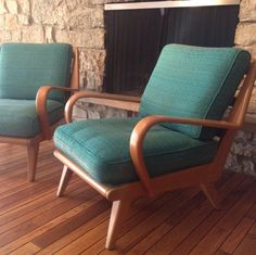 Delicieux Rare Heywood Wakefield Aristocraft Chairs (pair) Atomic Mid Century C 367