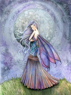Fairy Fantasy Fine Art Giclee Print by Molly Harrison 'Solitude' Fantasy Kunst, Fantasy Art, Fairy Dust, Fairy Tales, Dragons, Kobold, Fairy Pictures, Unicorns And Mermaids, Love Fairy