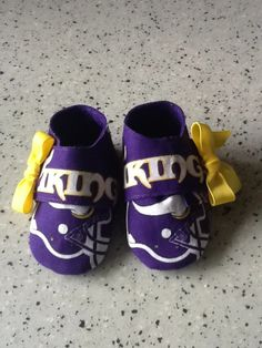 Minnesota Vikings baby shoes. Sizes 1-5. $15.00 plus shipping. Daddy will be happy