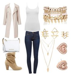 """""""Untitled #179"""" by allahrose78 ❤ liked on Polyvore featuring M&Co, Frame Denim, River Island, Charlotte Russe, Michael Kors, Forever 21 and Sole Society"""