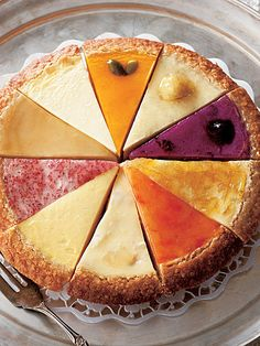 Great way to bring a Cheese Cake to a party...get 10 different pieces from your favorite Cheese Cake Bakery and form one big Cheese Cake!!
