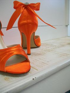 Orange Wedding Shoes Choose From Over 100 Colors von Parisxox
