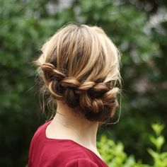Messy+Low+Braided+Updo