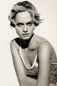 Amber Valletta by Peter Lindbergh Jil Sander 1994