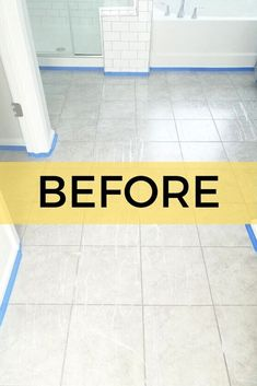DIY Before and After Easy Bathroom Floor Makeover Idea Cheap Beach Decor, Cheap Home Decor, Diy Home Decor, Decoration Crafts, Luxury Homes Interior, Home Interior, Interior Modern, Cheap Bathroom Makeover, Bathroom Makeovers