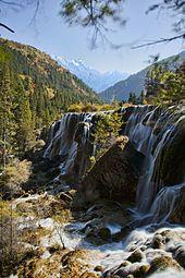Pearl Shoal Waterfall, Rize Valley, Jiuzhaigou, China