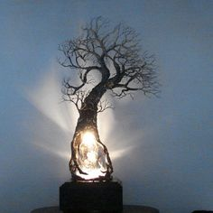 Smokey Clear Quartz Crystal Isis face Wire Tree by CrowsFeathers, $259.00