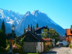 Garmisch, another fairy tale-looking region in Southern Germany (the Bavarian Alps).