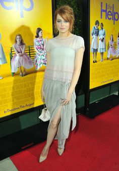 Chanel's Airy Blue Layers - Style Crush: Emma Stone's Best Looks Ever, So Far - Photos