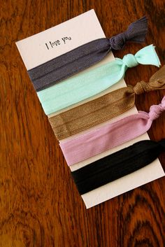 The Superettes: DIY elastic hair ties- My daughter got some of these for Christmas and she loves them.  Will be making these instead of buying them :)