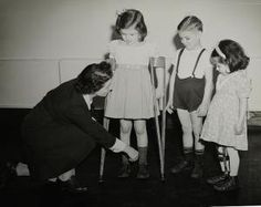 In this photo provided by the York County Heritage Trust, children with polio get fitted for braces. More than 100 people contracted polio in 1941 in York County. At least nine people died from the epidemic. Schools closed, and young people couldn't attend public gatherings, funerals or swimming pools. 'No slight cold, sore throat or upset stomach should be disregarded by parents,' a local newspaper article from that summer reads. (SUBMITTED)