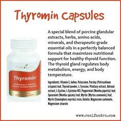 A special blend of porcine glandular extracts, herbs, amino acids, minerals, and therapeutic-grade essential oils in a perfectly balanced formula that maximizes nutritional support for healthy thyroid function. #thyromin #youngliving