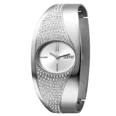 Esprit Women's Quartz Watch with Metal Strap Time Clock, Gadget Gifts, Cool Watches, Quartz Watch, Lady, Jewelry Watches, Metal, Silver, Stuff To Buy