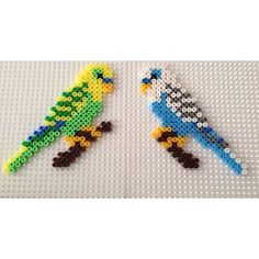 Parakeets hama beads by  hbtvegan