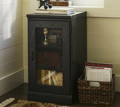 Top pick Printer's Glass Door Cabinet #potterybarn  Small Media  CabinetMedia CabinetsHouse ...