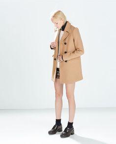 BUTTON COAT from Zara