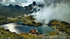 balea lac, in the fagaras mountains, near the transfagarasan road in romania. Wonderful Places, Beautiful Places, Forever Travel, Glacier Lake, Visit Romania, Ice Hotel, Exotic Beaches, The Beautiful Country, Eastern Europe
