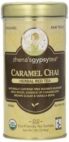 Amazon.com : Zhena's Gypsy Chai Red Tea, Caramel, 22 Count : Zhena Gypsy Tea : Grocery & Gourmet Food