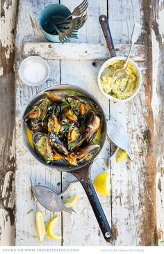 West Coast Mussels with Café de Paris Butter  | Recipe, testing & preparation: The Food Fox, Photography: @Tasha Seccombe