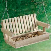 Popsicle Stick Crafts: swing bird feeder