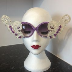Lace and crystal DIY decorated sunglasses