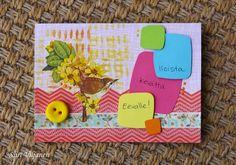 Spring card - Made by Siiri Viljanen - Käsitöitä flamencohame hulmuten