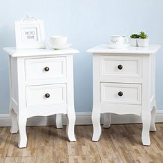 White Nightstand Set 2 Bedside End Table Pair Shabby Chic... https://www.amazon.com/dp/B06ZY6HH2F/ref=cm_sw_r_pi_dp_x_z4DhzbXJ826WG