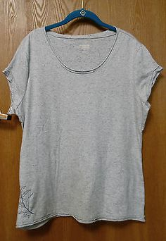Guide Series Womans Size XL Heather Blue Cap Sleeve Scoop Neck Top