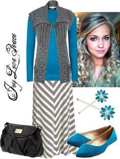 I'm not usually fond of gray, but this is cute with the turquoise accent.