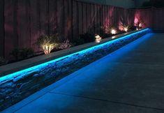 Under lip LED lighting Container Gardening Vegetables, Vegetable Garden, Garden Makeover, Garden Borders, Garden Design, Landscape, Lighting, Outdoor Decor, Led