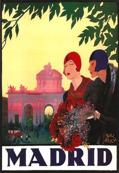 Madrid travel ad, 1927...MADRID WAS BEAUTIFUL..