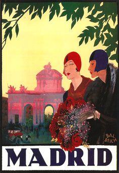 Madrid travel ad, 1927...MADRID WAS BEAUTIFUL..