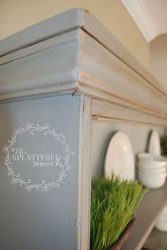 French Linen Chalk paint with clear and dark wax