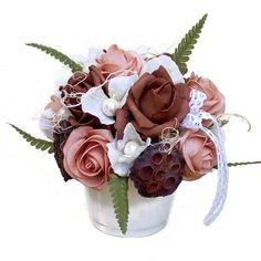 Asztaldísz barnás árnyalatban Rose, Flowers, Plants, Home Decor, Pink, Decoration Home, Room Decor, Plant, Roses