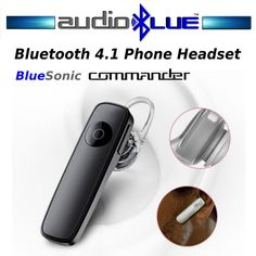 Bluetooth 4.1 Phone Headset Connect phone/devices -Dual mics #AudioBlue