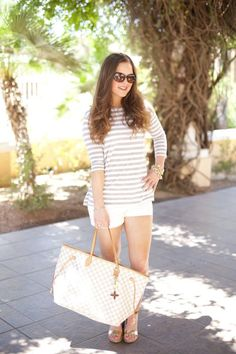 Fashion-Style-Outfit Inspiration-OOTD-Outfit Ideas-Louis Vuitton-J.Crew-Target Style-Lilly Pulitzer-Tory Burch- Shorts-Stripes-Summer-Summer Wear