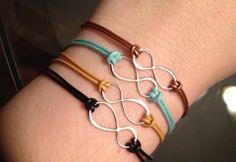 Infinity Bracelets-- another cute gift idea...