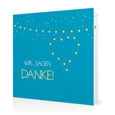 Dankeskarte Leuchtendes Fest in Lagune - Klappkarte quadratisch #Hochzeit #Hochzeitskarten #Danksagung #Foto #kreativ #modern https://www.goldbek.de/hochzeit/hochzeitskarten/danksagung/dankeskarte-leuchtendes-fest?color=lagune&design=2124a&utm_campaign=autoproducts