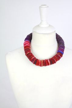 felted necklace designer fashion jewellery by FeltFieltroFilc, €35.00