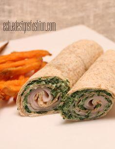 E.C.B. (Especially Creative Broad): Turkey Wraps with Spinach Cream Cheese