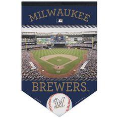 """Milwaukee Brewers WinCraft 17"""" x 26"""" Stadium Premium Banner - $21.99"""
