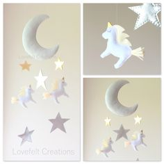 A personal favorite from my Etsy shop https://www.etsy.com/listing/228069405/baby-mobile-moon-mobile-unicorn-mobile