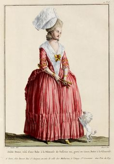 Such a lovely dress. I'd call the color a muted red. c. 1776