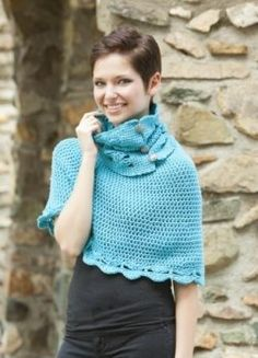 Crocheted Cordelia Cowl & Capelet Pattern