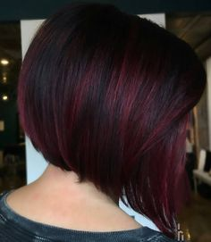 short black hairstyles 2020 Balayage hair Balayage has been a hair color staple for years due to its ability to offer hair a subtle, flattering lift. Pelo Color Borgoña, Red Balayage Hair, Wine Hair, Hair Color And Cut, Black Cherry Hair Color, Black And Burgundy Hair, Dark Red, Bob Hairstyles, Black Hairstyles