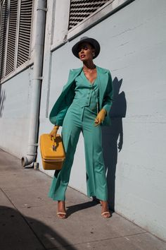 1930's Women's VINTAGE three piece suit  pantsuit  // by HannahBe