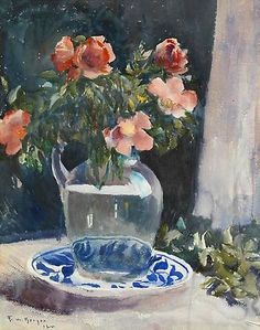 Frank Weston Benson  Still Life with Flowers  1922