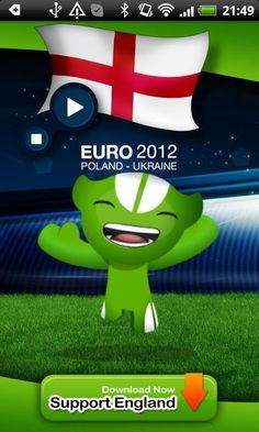 """'EURO 2012 ENGLAND Anthem' is the official app to play ENGLAND anthem during UEFA EURO 2012 tournament.<br/><br/>★★★★★ """"EURO 2012 ENGLAND Anthem"""" ★★★★★<br/><br/>'EURO 2012 ENGLAND Anthem' allow the England national football team supporters to play and sing the England anthem during UEFA EURO 2012 tournament.<br/><br/>The 2012 UEFA European Football Championship, EURO 2012, will be the 14th European Championship for national football teams sanctioned by UEFA. <br/><br/>The UEFA EURO 2012…"""